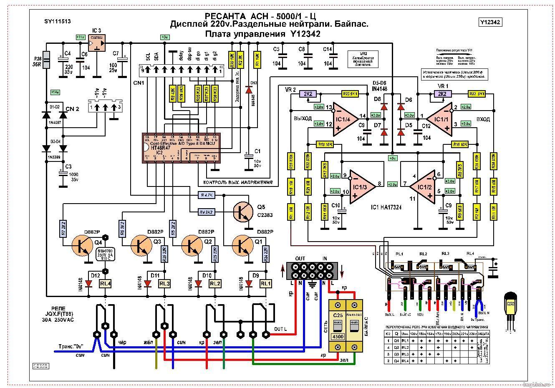 Инструкция к стабилизатору напряжения ach 5000 ресанта